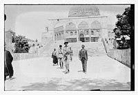 Visit of Prince William of Sweden? to Dome of the Rock, Jerusalem LOC matpc.10404.jpg