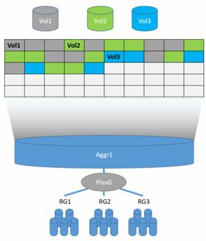 Write Anywhere File Layout - WAFL Data Layout: blocks and inode metadata alongside user data
