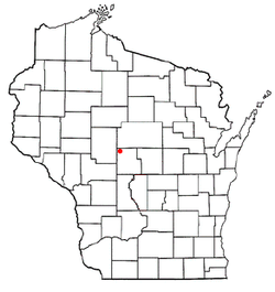 Location of Lincoln, Wood County, Wisconsin