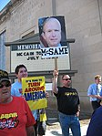 WI Union activists protest outside McCain Town Hall in Racine, July 31, 2008 (2723003856).jpg