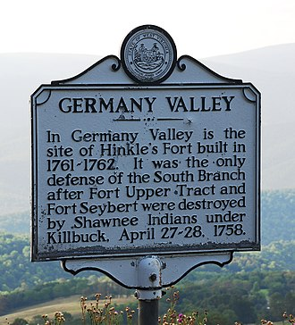 Germany Valley - Historical marker