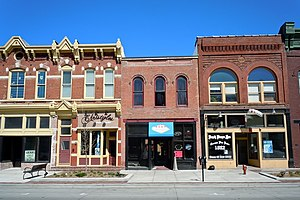 100 Block of West Broadway Historic District - Image: W Broadway HD C Bluffs IA