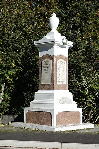 Waitati - Waitati war memorial commemorating fallen World War I soldiers