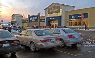 Walmart Canada - A Supercentre in Vaughan, ON in January 2008.