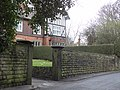 Wall, gate piers and gate with overthrow to Holmfield.jpg