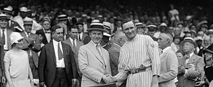 Walter Johnson and Calvin Coolidge shake hands FINAL.jpg