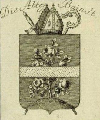 Baindt Abbey - Image: Wappen Baindt Abtei