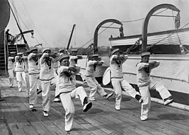 Warspite cadets dancing the hornpipe 1928.jpg