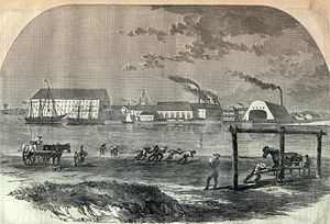 Michael Shiner - An early illustration of the Washington Navy Yard