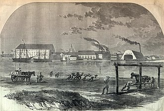 Michael Shiner - An early illustration of the Washington Navy Yard