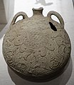 Water flask with moulded relief designs, Iran, 1200s AD, unglazed ceramic - Princeton University Art Museum - DSC06850.jpg