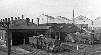 Watford Junction railway station - Watford Locomotive Depot 27 January 1951.