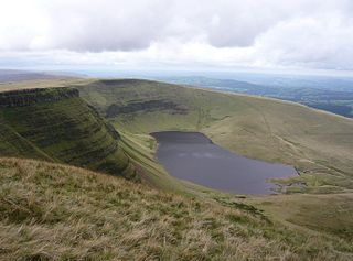Waun Lefrith mountain in United Kingdom