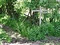 Waymarker nearing Barns Green - geograph.org.uk - 1282725.jpg