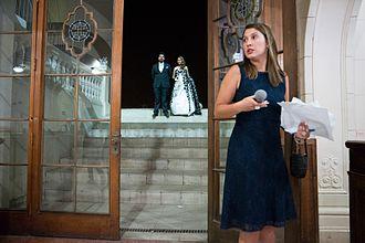 Wedding planner - A planner at a Chilean wedding event