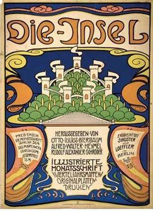 Emil Rudolf Weiß - Poster for Die Insel theater, Karlsruhe