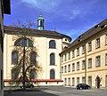 Weingarten Akademiehof Basilika Südfassade und Seminarbau.jpg