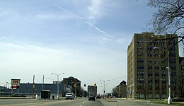 West Grand Blvd at Rosa Parks (12th Street) 2008.jpg
