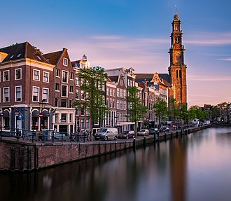 The Westerkerk in the Centrum borough, one of Amsterdam's best-known churches Westerkerk Amsterdam.jpg