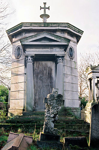 West Norwood Cemetery - Vagliano's mausoleum in the Greek necropolis within West Norwood Cemetery