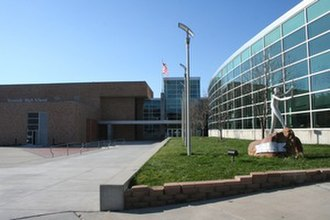 Westside High School (Omaha) - Front view of the Westside campus