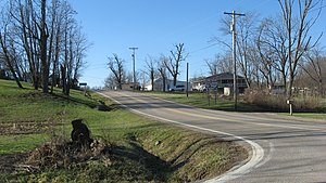 Ohio State Route 555 - SR 555's short concurrency with SR 78 in Ringgold