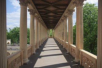 Colonnade - Colonnade at the Belvedere on the Pfingstberg palace in Germany