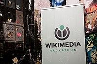 Wikimedia Hackathon Vienna 2017-05-20 Party at Arena 16.jpg