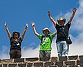 Wikimedians atop a lesser pyramid at Teotihuacan.jpg