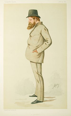 Wilfrid Scawen Blunt - Blunt caricatured by Ape in Vanity Fair, 1885