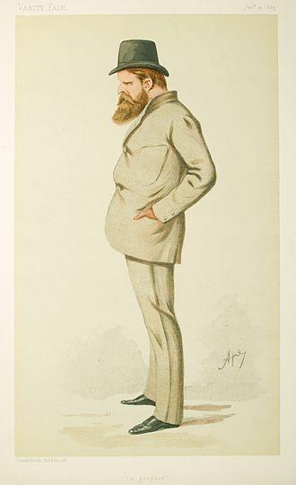 Wilfrid Scawen Blunt - Blunt caricatured by Ape in Vanity Fair, 1885