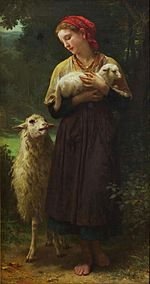 William-Adolphe Bouguereau - L'Agneau Nouveau-Ne (The Shepherdess) - Google Art Project.jpg