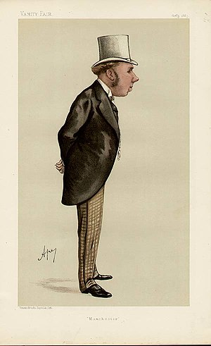 William Houldsworth - Houldsworth caricatured by Ape  in Vanity Fair, 1885