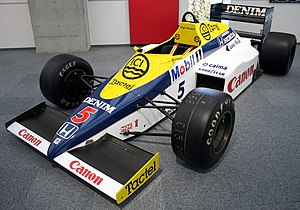 Williams FW10 - The FW10 on display at the Honda Collection Hall in Japan.