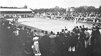 1892 Wimbledon Championships – Gentlemen's Singles - All-comers final between Pim and Lewis.