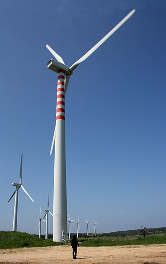 A wind farm in Sedini Sassari Wind farm in Sardinia.jpg