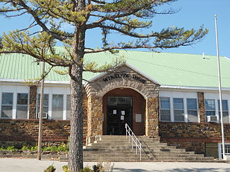 Winslow, Arkansas - This 1930 building formerly housed Winslow High School. It now contains the Winslow Public Library.