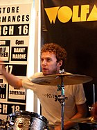 Myles Heskett during a performance at SXSW 2006.