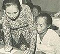 Woman teaching, Wanita di Indonesia p099 (Ministry of Information).jpg