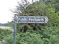Worn out sign - geograph.org.uk - 201181.jpg