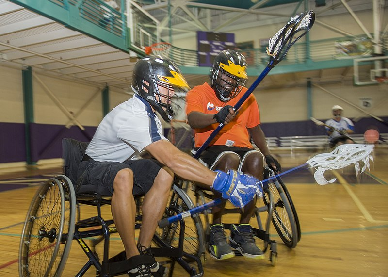 File:Wounded warriors play lacrosse. (9452739512).jpg