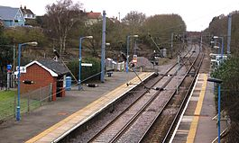 Wrabness station in 2013 - view westwards.JPG