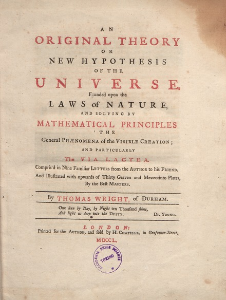 Theory or new Hypothesis of the Universe Wright - Theory or new Hypothesis of the Universe, 1750 - 778139 F.tif