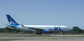 XL Airways France Airbus A330-200 landing at Punta Cana (edited).jpg