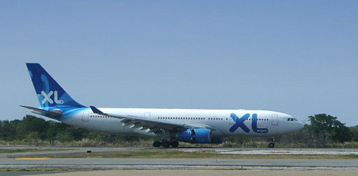 XL Airways France Airbus A330-200 landing at Punta Cana (edited)