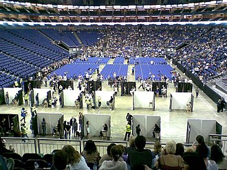 The X Factor (UK TV series) - Open auditions taking place at The O2 Arena in May 2009