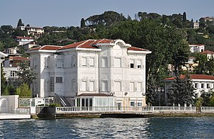 Cemile Sultan - Yağcı Hacı Şefik Bey Yalısı is a Yalı mansion on the Bosphorus shore in Istanbul, Turkey. Located at Kanlıca, the mansion was built in 1905 in Art Nouveau style for Cemile Sultan. It was restored in 1989 by Mr. Faruk Yalcin from the Turkish government.