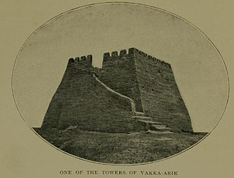 Yarkant County - The towers in Yakka-Arik
