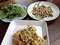 Yam kai mot daeng omelette kai mot daeng pak kad soi sakon nakhon, thailand.jpg