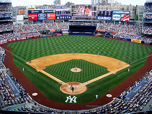 Sports in New York City - Yankee Stadium in the Bronx, home of the New York Yankees and New York City FC.
